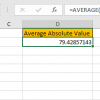 How to Average Absolute Values in Excel5