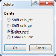 How to Delete Entire Rows if Blank Cell Exists in Excel7