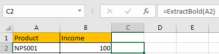 How to Extract Bold Text from A List in Excel12