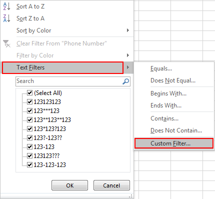 How to Filter Data Contains Special Character 3