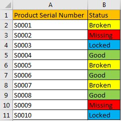 How to Filter Data by Multiple Cell Colors in A List 1