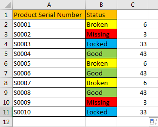 How to Filter Data by Multiple Cell Colors in A List 5