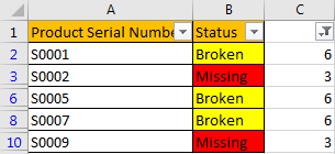 How to Filter Data by Multiple Cell Colors in A List 8