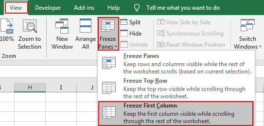 How to Lock or Freeze Row or Column in Excel8
