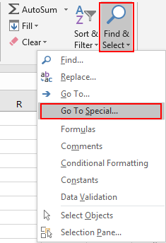 How to Select All Error Value Cells 2