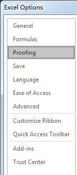 How to Turn Off AutoCorrect Feature in Excel2