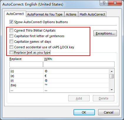 How to Turn Off AutoCorrect Feature in Excel4