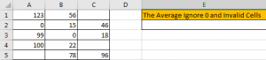 How to Calculate Average Ignore Blank and Zero Cells in Excel1