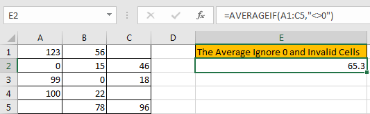 How to Calculate Average Ignore Blank and Zero Cells in Excel3