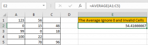 How to Calculate Average Ignore Blank and Zero Cells in Excel4