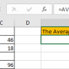 How to Calculate Average Ignore Blank and Zero Cells in Excel8