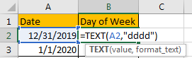 How to Change Date to The Day of Week 2