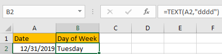 How to Change Date to The Day of Week 3