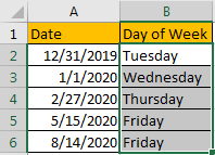 How to Change Date to The Day of Week 4