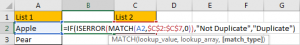 How to Compare Two Columns and Remove the Duplicate Values by Formula 2