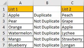 How to Compare Two Columns and Remove the Duplicate Values by Formula 4