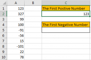How to Find the First or Last Positive or Negative Number in a Column3