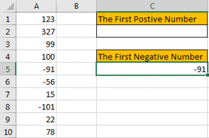 How to Find the First or Last Positive or Negative Number in a Column5