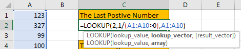 How to Find the First or Last Positive or Negative Number in a Column6