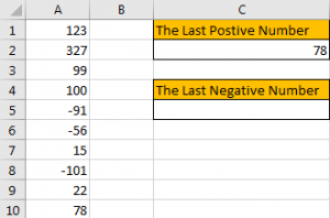 How to Find the First or Last Positive or Negative Number in a Column7