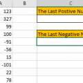 How to Find the First or Last Positive or Negative Number in a Column9