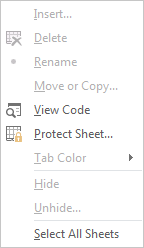 How to Prevent Users from Adding New Worksheet 5
