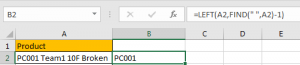 How to Split Cells by the First Space in Texts in Excel4