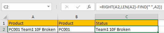 How to Split Cells by the First Space in Texts in Excel7