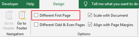 How to add header or footer on pages 16