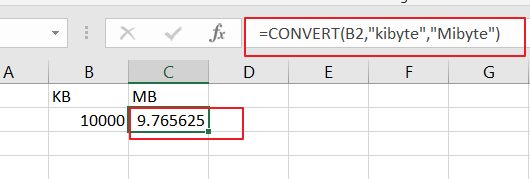 convert kb mb unit3