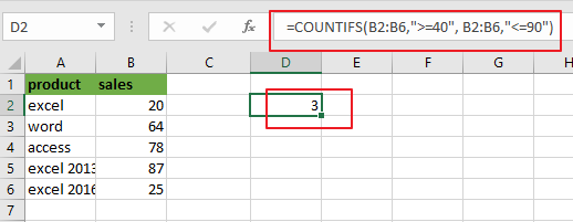 count cells between two numbers1