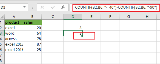count cells between two numbers2