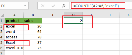 count cells equal to value1