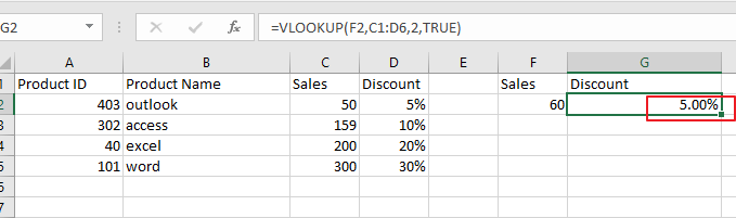 use vlookup for approximate or exact match3