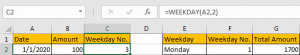 Sum Data by Weekday 8