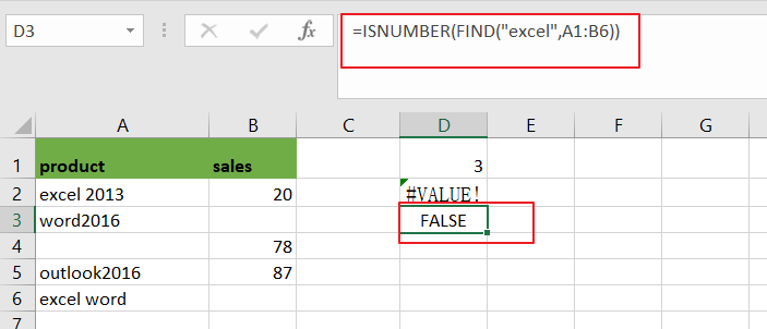 count cell that contain x or y4