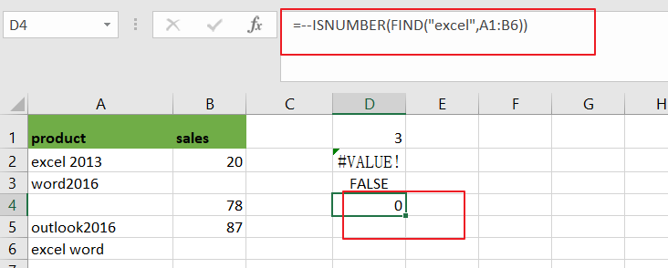 count cell that contain x or y6