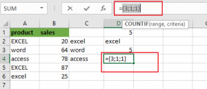 count cells equal to many values4