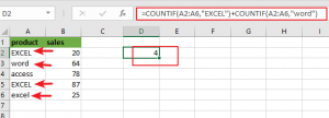 count cells equals to x or y1