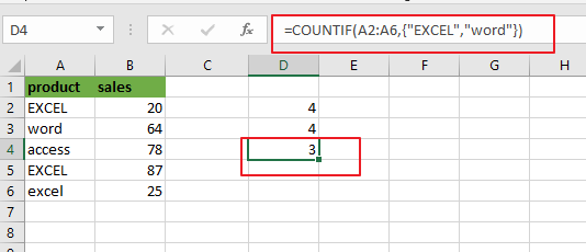 count cells equals to x or y3