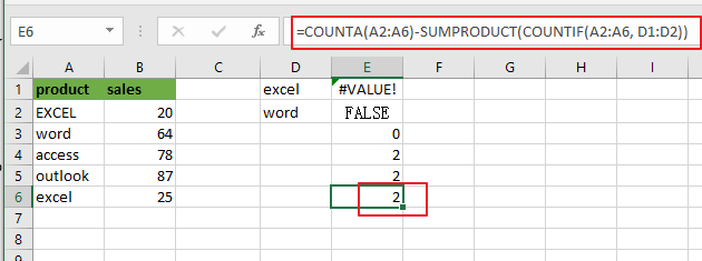 count cells not equal many things9
