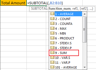 How to Only Sum Visible CellsRows in a Filtered List5