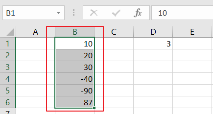 count cell that contain negative number4