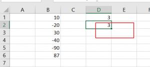 count cell that contain negative number5
