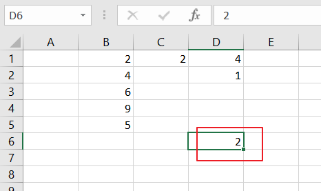 count cells that contain even numbers5