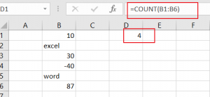 count cells that contain number1