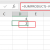 count cells that contain number2