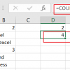 count cells that contain text1