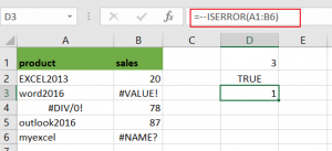 count number cells that contain errors4