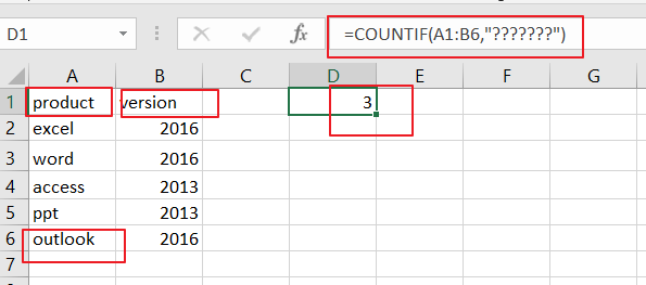 count number of cells that contain certain characters1